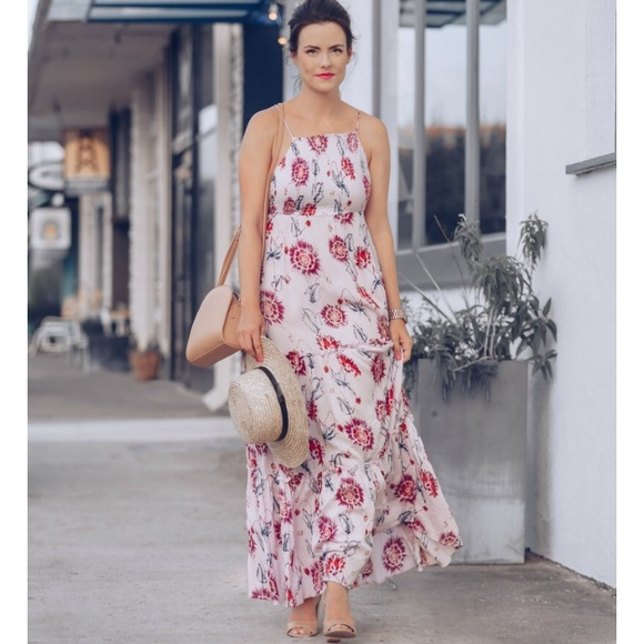 2e743f91388 Free People🌸 Garden Party Floral Maxi Dress